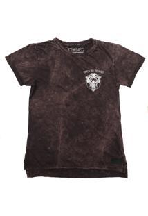 Camiseta Longline Stoned Estonada Wild Vinho