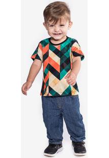 Camiseta Geometric Color Niños 500009