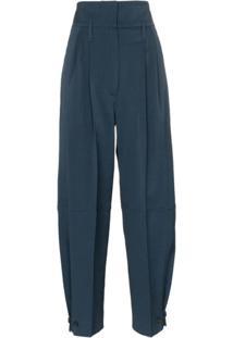 Givenchy Calça De Alfaiataria Cintura Alta Com Cinto - Azul