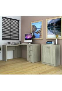 Conjunto Escritório Tecno Mobili Escrivaninha Me4101 + Balcão Me4103 – Fresno