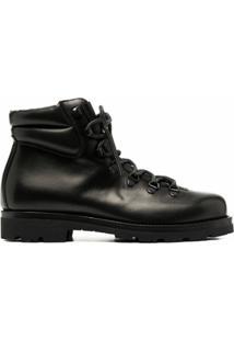 Scarosso Ankle Boot Matelassê Com Cadarço - Marrom