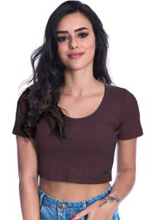 Blusa Cropped Long Island Bordo
