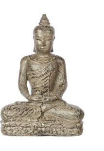 Estátua Buda Em Cimento 30Cm   Bali