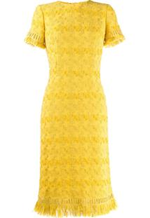 Ermanno Scervino Fringed Midi Dress - Amarelo