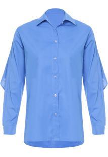 Camisa Feminina Trech - Azul