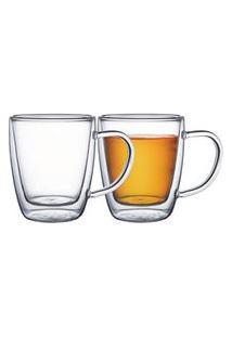 Conjunto De Xícaras Para Chá Em Vidro Tramontina 2 Peças Tramontina
