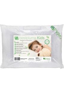 Travesseiro Infantil Bestpluma Kids 40X30 Cm Plumas Sintéticas Theva