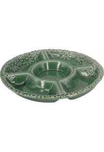 Petisqueira De Porcelana Verde