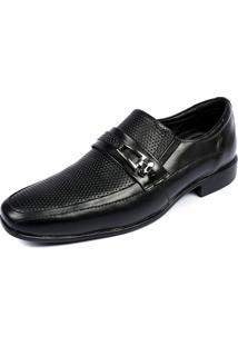 Sapato Social Shoes Grand Couro Legitimo Siena Masculino - Masculino-Preto