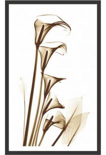 Quadro Decorativo Com Moldura Floral Iii Preto 80X50 Cm