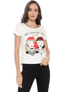 Camiseta Carmim Girls Support Girls Off-White