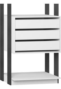 Módulo Closet 3 Gavetas E Cabideiro Clothes 700 Be Mobiliário Branco/Espresso