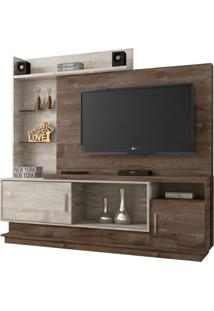 Estante Para Home Theater Adustina Chocolate E Champanhe 178 Cm