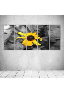 Quadro Decorativo - Flower Yellow - Composto De 5 Quadros