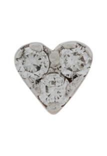 Kismet By Milka Brinco Único Mini Heart De Ouro Rosê 14K Com Diamante - Rose Gold