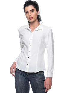 Camisa Intens Manga Longa Crepe Branco