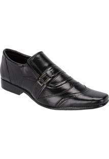 Sapato Social Masculino Em Couro Moderno Leoppé - Masculino-Preto