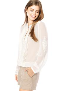 Camisa Forum Reta Bordada Off-White