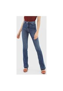 Calça Jeans Lez A Lez Bootcut Estonada Azul