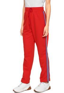 ... Calça Moletom Sommer Stripes Vermelha b6671fc2193