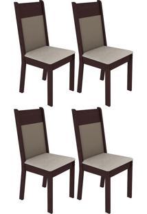 Kit 4 Cadeiras Em Mdf E Mdp Madesa