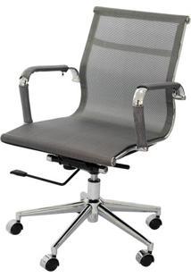 Cadeira Eames Telinha Baixa Cinza Cromada - 21919 - Sun House