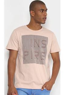 Camiseta Forum Inspire Masculina - Masculino-Bege