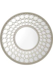 Espelho Royal Redondo De Parede Prata - Kanui