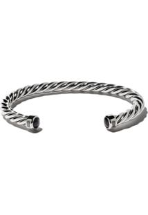 David Yurman Bracelete 'Cable' De Prata Com Ônix - Ssbbo