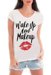 Camiseta Criativa Urbana Rendada Frases Makeup Branca