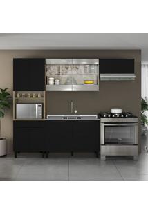Cozinha Compacta Itamaxi Iii 9 Pt 1 Gv Preta E Castanho