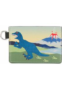 Ps Paul Smith Porta-Moedas Com Estampa De Dinossauro - Azul