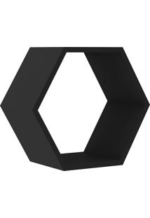 Nicho Hexagonal 400X346X180 Mm Preto Movelbento
