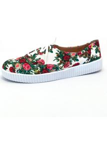 Tênis Creeper Quality Shoes Feminino 005 Floral 209 39