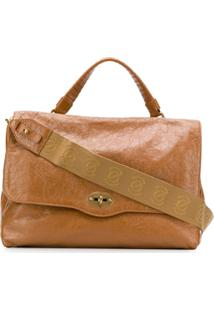 Zanellato Postina Medium Lustro Shoulder Bag - Marrom