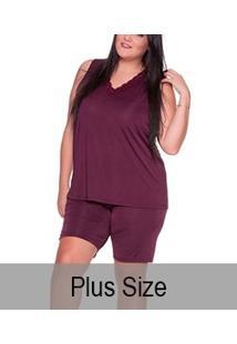 Pijama Regata Liganete Com Renda E-Pijama (5433) Plus Size
