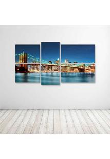 Quadro Decorativo - New York City Night Lights - Composto De 5 Quadros - Multicolorido - Dafiti