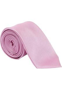 Gravata Em Seda Maquinetada - Rosa Claro - 7X150Cmdudalina