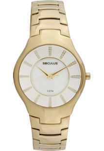 Relógio Seculus 23362Lpsnds1 Dourado