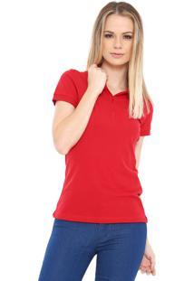 ... Camisa Polo Hering Lisa Vermelha 5ca9844858f0b
