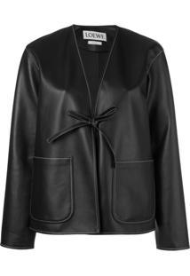 Loewe Jaqueta Com Costura Contrastante - Preto