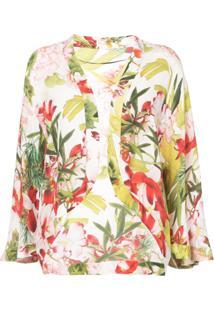 Josie Natori Jaqueta Floral 'Paradise' - Estampado