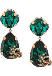 Dolce & Gabbana Par De Brincos Gota - Green