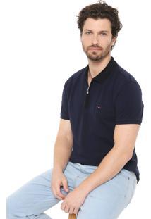 Camisa Polo Aramis Reta Zíper Azul-Marinho