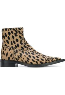 Mm6 Maison Margiela Ankle Boot Com Poás - Marrom