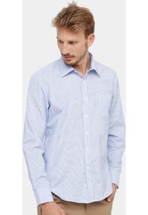 Camisa Bluebay Listrada Bolso Masculina - Masculino