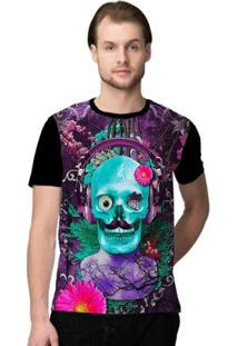 Camiseta Stompy Psicodelica11 Masculina - Masculino-Preto