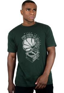 Camiseta Bleed American Turntable Musgo