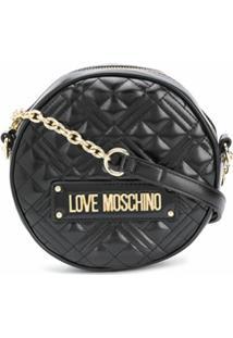 Love Moschino Bolsa Com Recorte Contrastante - Preto