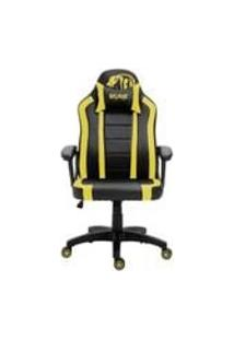 Cadeira Gamer Advanced Snake Viper Reclinavel Giratoria Preta E Amarela 440